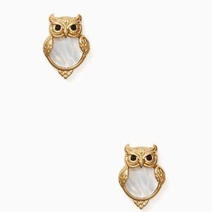 Kate Spade ♠️ NWT Gold Owl Stud Earrings
